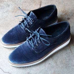 Shelly's London velvet platform shoes